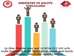 Endüstri ve Kalite Topluluğu Üyelerinin Dikkatine!!!(Güncelleme)